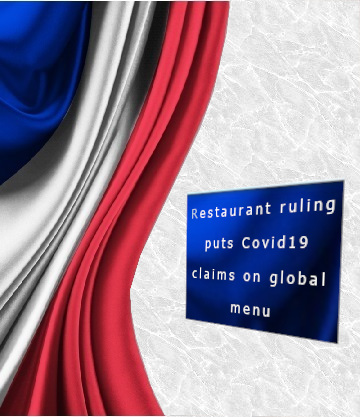 France – coronavirus claims on global menu
